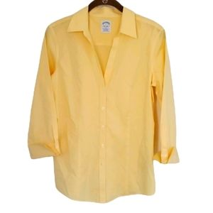 Brooks Brothers Yellow Gingham Buttondown